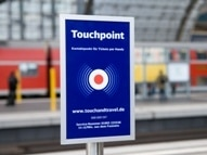 ON TARGET: Travellers hold their NFC phones to Touchpoints like this before and after every journey