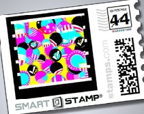 SMART STAMP: Uses RFID and Microsoft Tags to tie mailed items to the internet