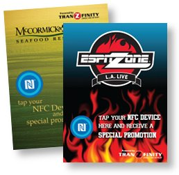 PROMOTION: Smart posters indicate discounts are available — and where to tap your mobile phone