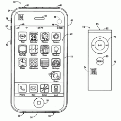 Apple iPhone showing NFC N-Mark