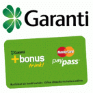 Garanti Bank logo and Bonus Trink sticker