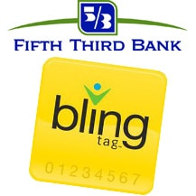 Fifth Third Bank logo and Bling Nation Bling Tag