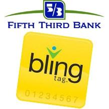 Fifth Third Bank logo and Bling Nation Bling Tag