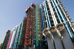 The Pompidou cultural center in Paris