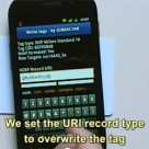 Nexus S writing an NFC tag