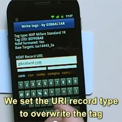 Nexus S writing an NFC tag