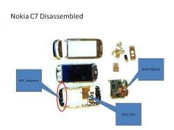 Nokia C7 disassembled