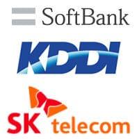 Softbank, KDDI and SK Telecom