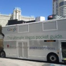Google ad on bus in Las Vegas