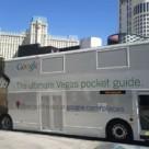 Google ad on bus in Las Vegas