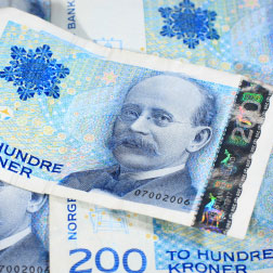 Norwegian 200 Kroner notes