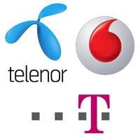 Telenor, Vodafone, Magyar Telekom