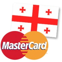 MasterCard and Georgian flag
