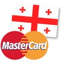 MasterCard and Georgian flag
