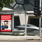 Coles and Adshel bus shelter
