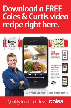 Coles NFC outdoor ad
