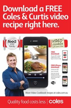 Coles NFC outdoor ad