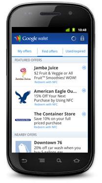 Google Wallet offers