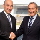 RIM's Jim Balsillie and Telefonica's Julio Linares