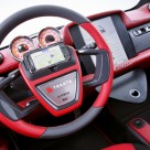 The Dock+Go concept sees the driver's NFC phone nesting in the centre of the steering wheel