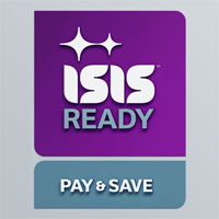 """Isis ready, pay & save"""