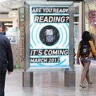 A poster site in Reading announcing the arrival of NFC advertising