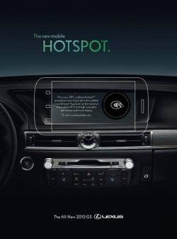 Wired's Lexus NFC ad insert