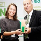 Connecthings's Damaris Homo picks up a Living Labs Global Award in Rio