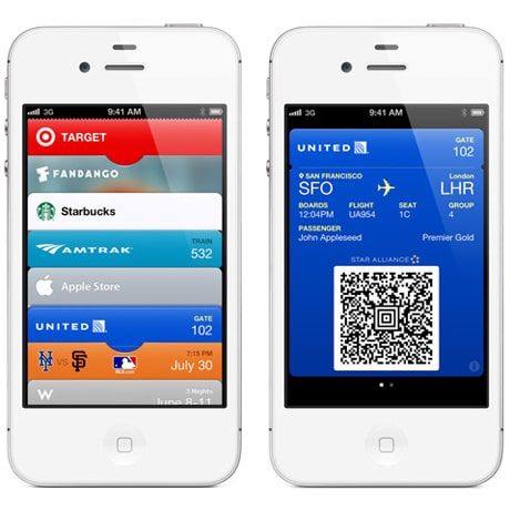 Apple iOS Passbook screens