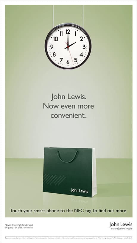 John Lewis's NFC-enabled ad