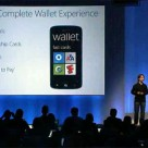 Joe Belfiore announces Microsoft's mobile wallet at the Windows Phone 8 unveiling