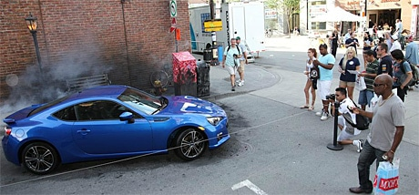 The Subaru BRZ 'Scorched' installation