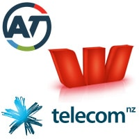 Auckland Transport, Westpac and Telecom NZ