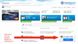 Barclaycard offers 'Save to Google Wallet'