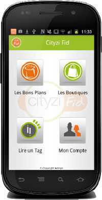 The Cityzi Fid loyalty wallet in action