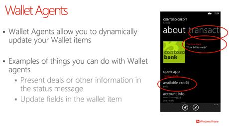 Microsoft Wallet: Wallet Agents