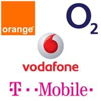 Orange, O2, Vodafone, T-Mobile