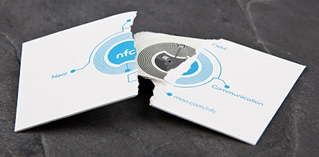 Moo's NFC business card deconstructed