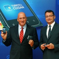 Turkcell CEO Sureyya Ciliv and Cenk Bayrakdar