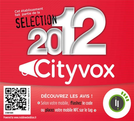 Cityvox NFC window decal