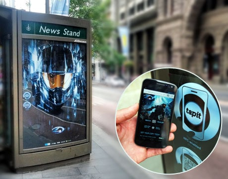 Microsoft's Halo 4 NFC poster campaign