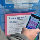 Connecting with NFC at a Helsinki tram stop