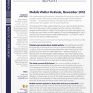 Mobile Wallet Outlook, November 2012