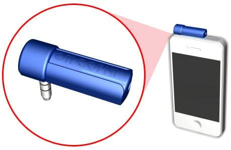 Copni Wave plugs into a device's headphone jack