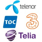 Telenor, TDC, 3 and Telia