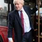 Mayor Boris Johnson on a London bus