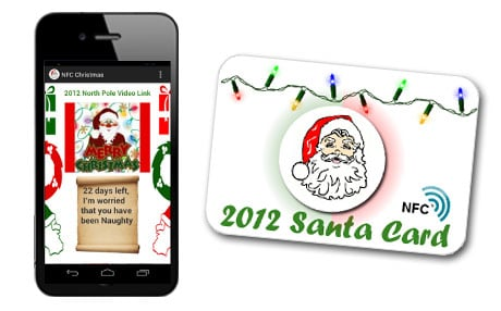 The NFC Christmas App and a Santa Card