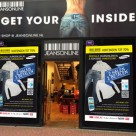 JeansOnline's pop-up store with NFC window displays
