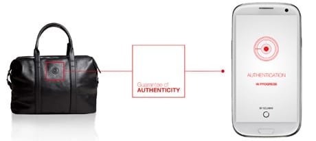 Scan the logo on the bag to verify its authenticity