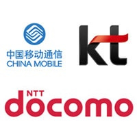 China Mobile, KT and NTT Docomo